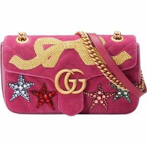 GUCCI Small GG Marmont 2.0 Matelasse Velvet bag